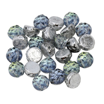 CzechMates® 7mm Cabochon 2 Hole Beads -- Baroque Uranium Backlit