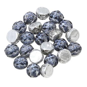 CzechMates® 7mm Cabochon 2 Hole Beads -- Baroque Periwinkle Backlit