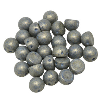 CzechMates® 7mm Cabochon 2 Hole Beads -- Poppy Seed Pacifica