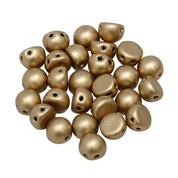 CzechMates® 7mm Cabochon 2 Hole Beads -- Metallic Flax Matte