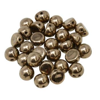 CzechMates® 7mm Cabochon 2 Hole Beads -- Bronze