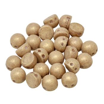 CzechMates® 7mm Cabochon 2 Hole Beads -- Macadamia Pacifica