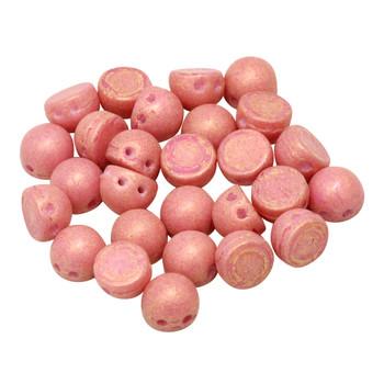 CzechMates® 7mm Cabochon 2 Hole Beads -- Watermelon Pacifica