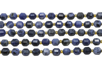 Sodalite Polished 7x8mm Faceted Prism