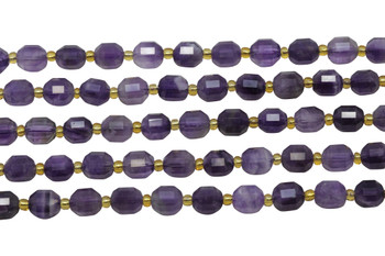Amethyst Polished 7x8mm Faceted Prism