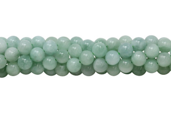 Green Angelite  A Grade Russia Polished 8mm Round