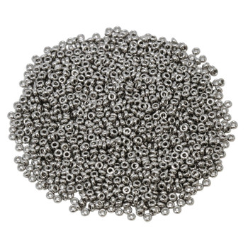 Size 11 Toho Demi Round Seed Beads -- 464A Nickel Plated