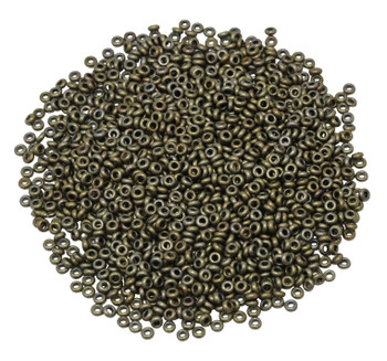 Size 11 Toho Demi Round Seed Beads -- Bronze Antique Gold