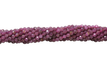 Natural Ruby Polished 2mm Faceted Round