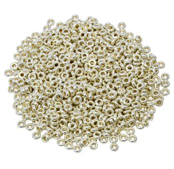 Size 8 Toho Demi Round Seed Beads -- Galvanized Aluminum Permanent Finish