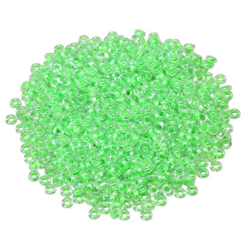 Size 8 Toho Demi Round Seed Beads -- Luminous Neon Green