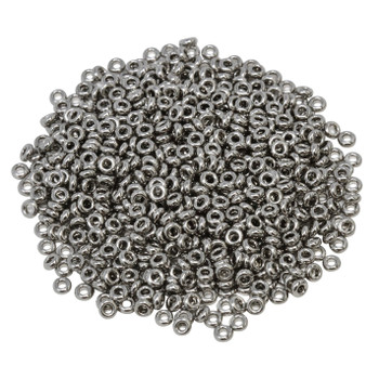 Size 8 Toho Demi Round Seed Beads -- 464A Nickel Plated