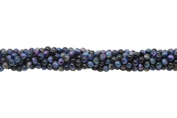 Galaxy Tiger Eye Polished A Grade 4mm Round - Blue Mix