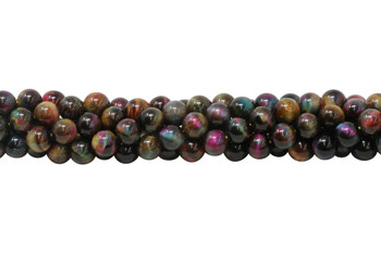 Galaxy Tiger Eye Polished A Grade 10mm Round - Autumn Mix