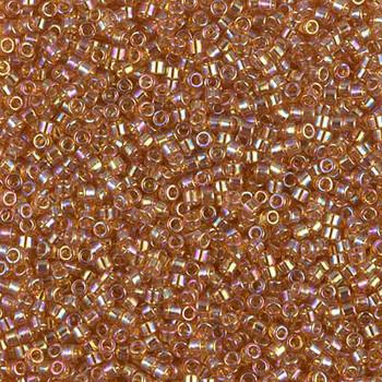 Delicas Size 11 Miyuki Seed Beads -- 1241 Transparent Marigold AB