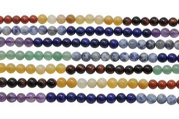 Mixed Chakra Gemstones Polished 6mm Round