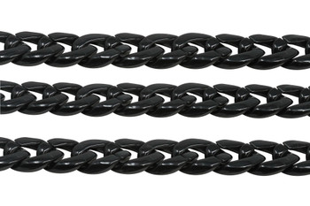 Acrylic Curb Chain 17x23mm - Black