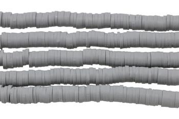 Polymer Clay 6mm Grey Disc