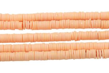 Polymer Clay 6mm Tawny Peach Disc