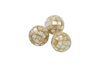 Tahitian Golden Lip Oyster Mosaic 20mm Round