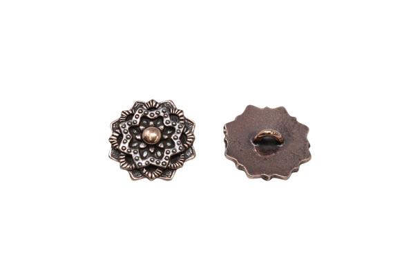 Mandala Button - Copper Plated