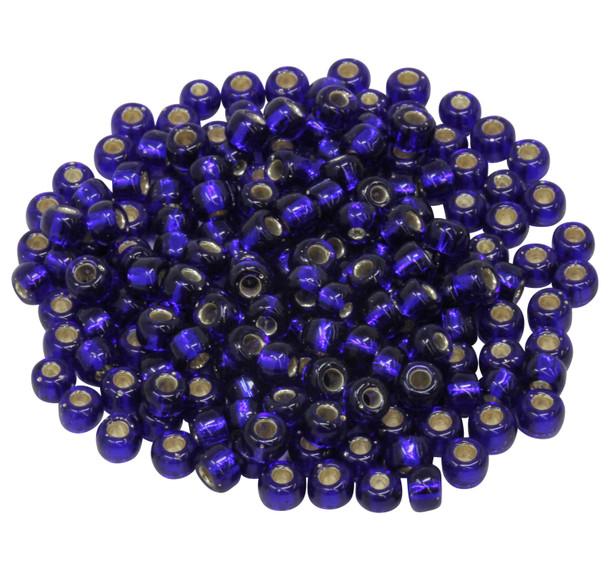 Size 5 Miyuki Seed Beads -- Cobalt / Silver Lined