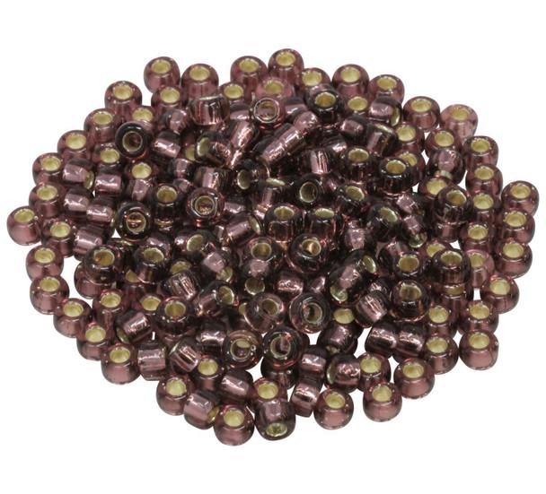 Size 5 Miyuki Seed Beads -- Smoky Amethyst / Silver Lined