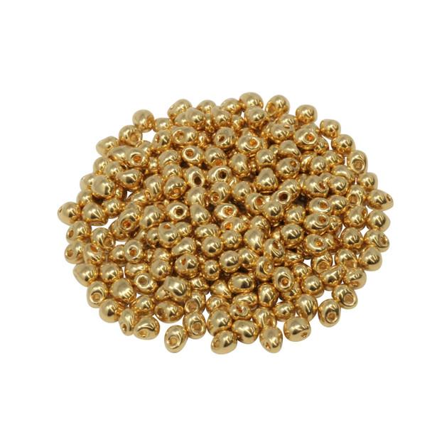 3.4mm Miyuki Drops -- 465 24K Gold Plated