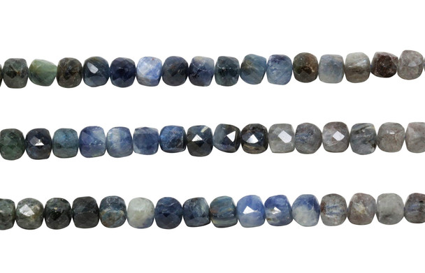 Ombre Kyanite Polished 6mm Faceted Cube