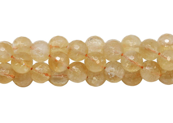 Citrine Natural Polished 10mm Faceted Round