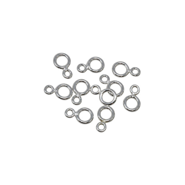 Sterling Silver Small Eye Rings - 10 Pieces