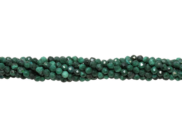 Malachite Polished 1.5mm Faceted Round