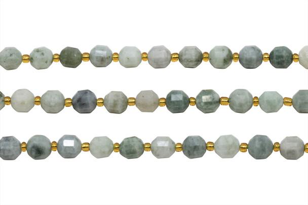 Burmese Jade Polished 7x8mm Prism Rondel