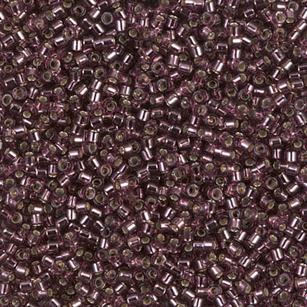 Delicas Size 11 Miyuki Seed Beads -- 1204 Mauve / Silver Lined