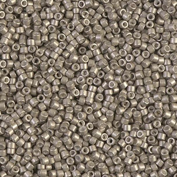 Delicas Size 11 Miyuki Seed Beads -- 1159 Galvanized Pewter Semi Matte