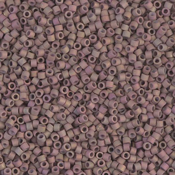 Delicas Size 11 Miyuki Seed Beads -- 1061 Matte Metallic Dusky Clay AB