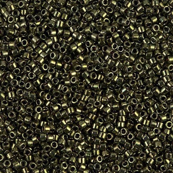 Delicas Size 11 Miyuki Seed Beads -- 011 Metallic Olive