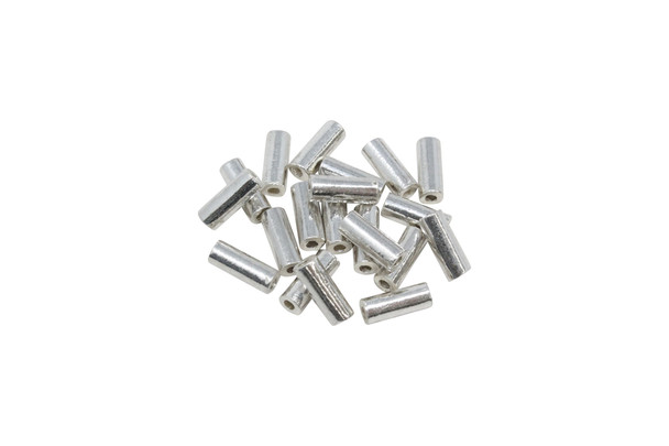 2.5x8mm Tube Bead - Sterling Silver