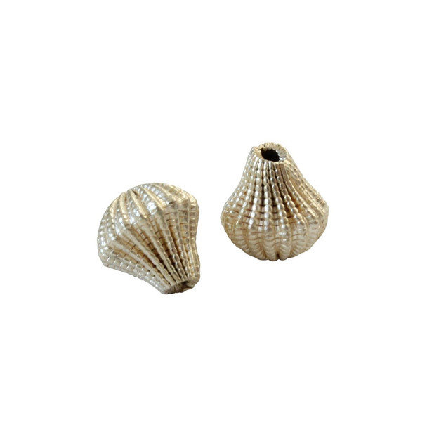 Lace Bell Bead 11x10mm - Light Gold Plated