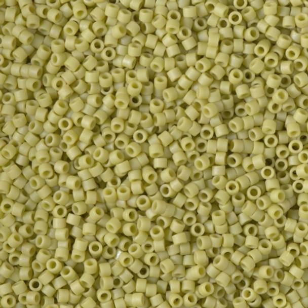 Delicas Size 11 Miyuki Seed Beads -- 2290 Glazed Opaque Honeydew Matte