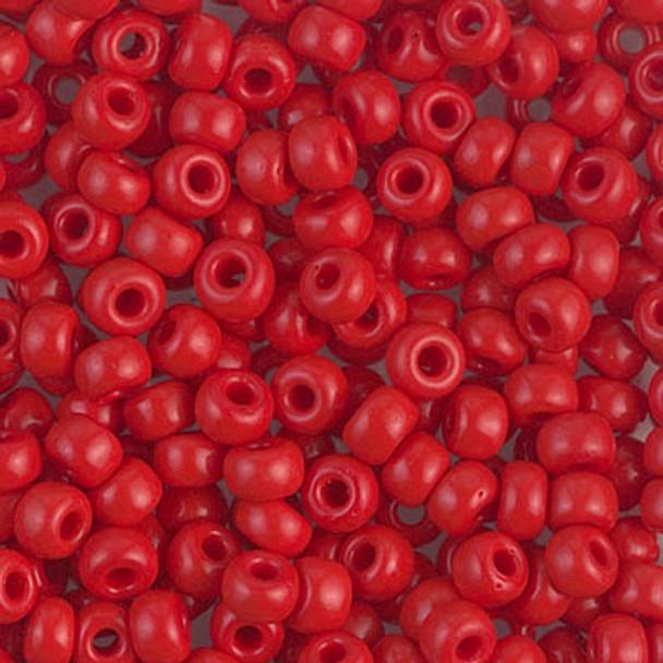 Size 6 Miyuki Seed Beads -- 408 Opaque Red
