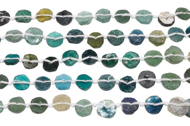 Roman Glass Natural 7-10mm Coins