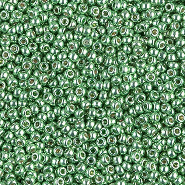 Size 11 Miyuki Seed Beads -- 4214 Duracoat Galvanized Dark Mint Green
