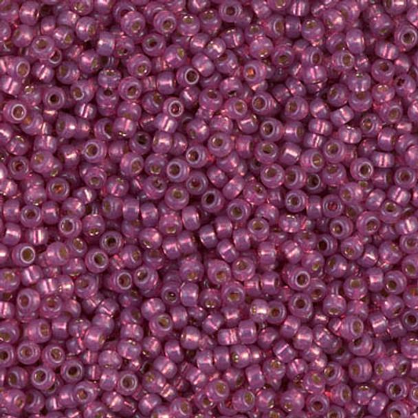 Size 11 Miyuki Seed Beads -- 4247 Duracoat Fuchsia / Silver Lined