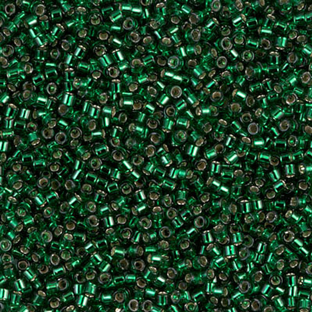Delicas Size 11 Miyuki Seed Beads -- 148 Green / Silver Lined