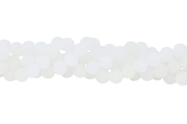 White Jade Matte 8mm Round