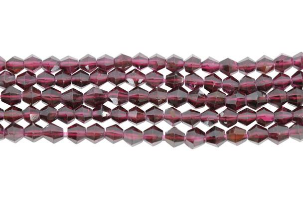Purple Garnet Polished 4mm Bicone