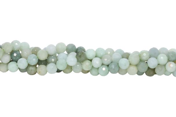 Burmese Jade Polished 6mm Faceted Round