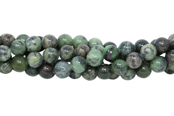 African Dendritic Jade Polished 10mm Round