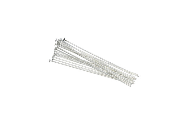 """Plated Silver 1.5"""" Long 24 Gauge Head Pins - 20 Pieces"""